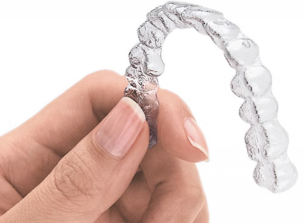 Invisible aligners can help move your teeth