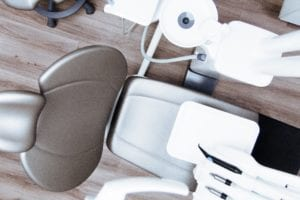 Cosmetic dental procedure chair and equipment
